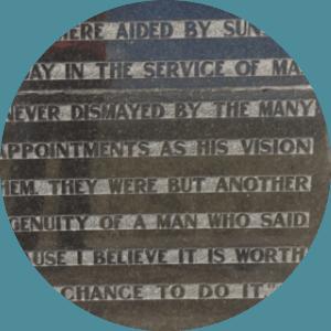 George Skellerup Monument words